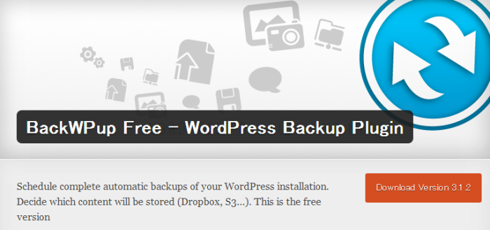 WordPress › BackWPup Free - WordPress Backup Plugin « WordPress Plugins (1)