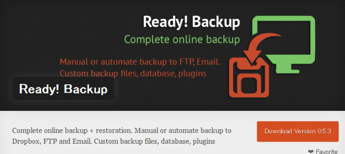 WordPress › Ready! Backup « WordPress Plugins