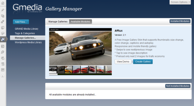 Gmedia Gallery - Photo Gallery, Image Slider, Music Player, Media Library