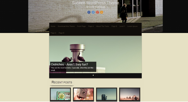 Sixteen WordPress Theme   Just another WordPress site