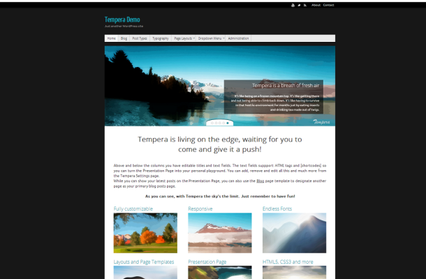 Tempera Demo   Just another WordPress site