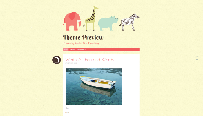 Theme Preview   Previewing Another WordPress Blog (3)