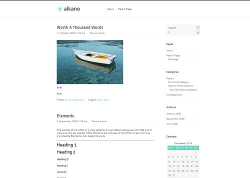 WordPress Alkane  Free WordPress Themes