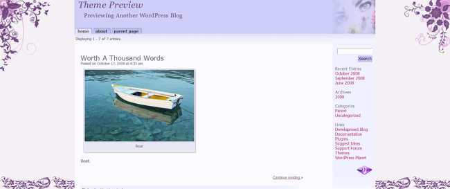WordPress Purple Pastels  Free WordPress Themes