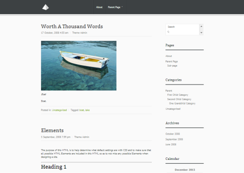 WordPress Pyramid  Free WordPress Themes