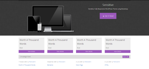 WordPress Sensitive  Free WordPress Themes
