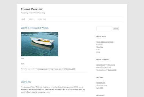 WordPress  Twenty Twelve  Free WordPress Themes