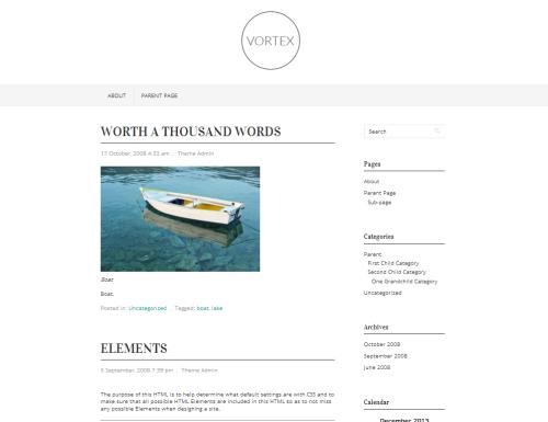 WordPress  Vortex  Free WordPress Themes