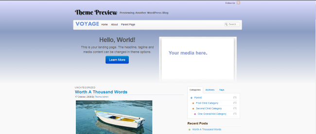 WordPress Voyage  Free WordPress Themes