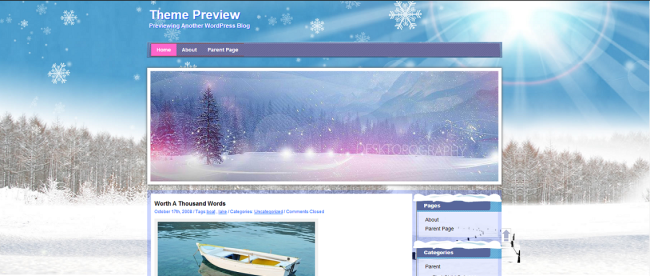 WordPress  Winter  Free WordPress Themes