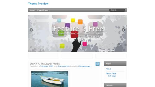 WordPress  iFeature  Free WordPress Themes