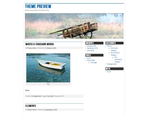 WordPress  nano blogger Free WordPress Themes