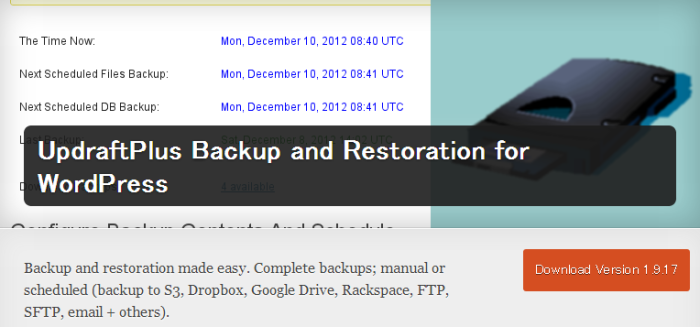 WordPress › UpdraftPlus Backup and Restoration for WordPress « WordPress Plugins