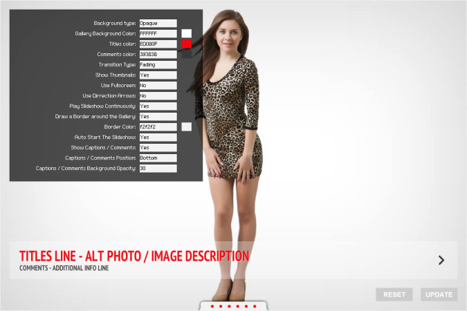 oQey Gallery - Skin Options Manager Screenshot